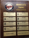 Twins Retired Numbers