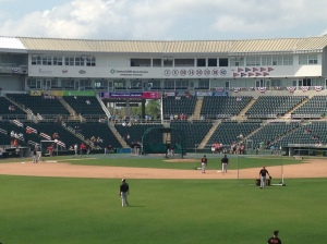 View from center field at Hammond Stadium